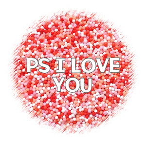Valentine Nonpareils: PS I Love You | www.bakerspartyshop.com