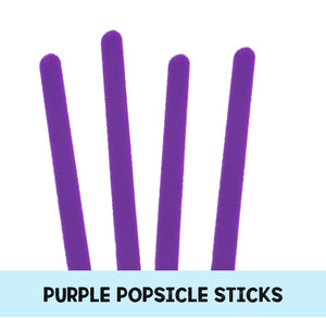 Purple Popsicle Sticks: Acrylic Popsicle Sticks | www.bakerspartyshop.com