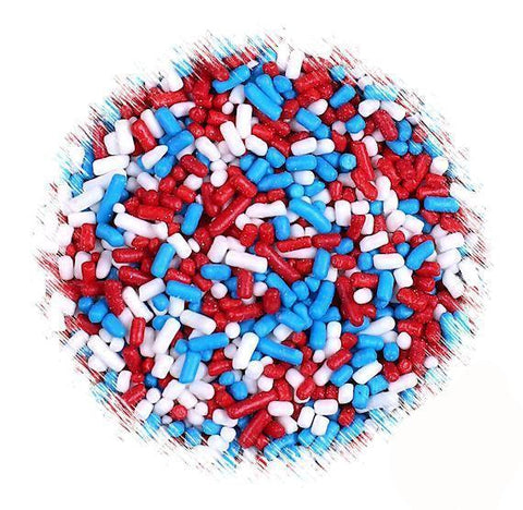 Patriotic Jimmies Sprinkles Mix | www.bakerspartyshop.com