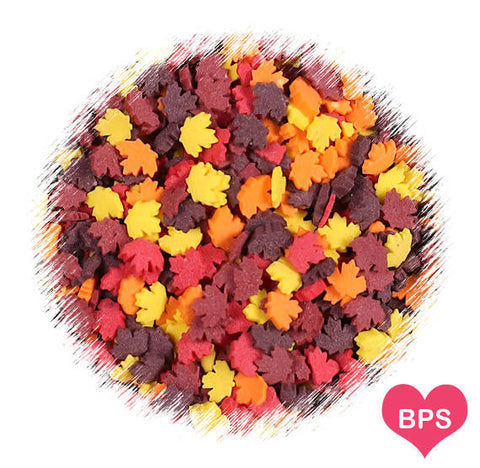 Autumn Leaves Quin Sprinkles | www.bakerspartyshop.com