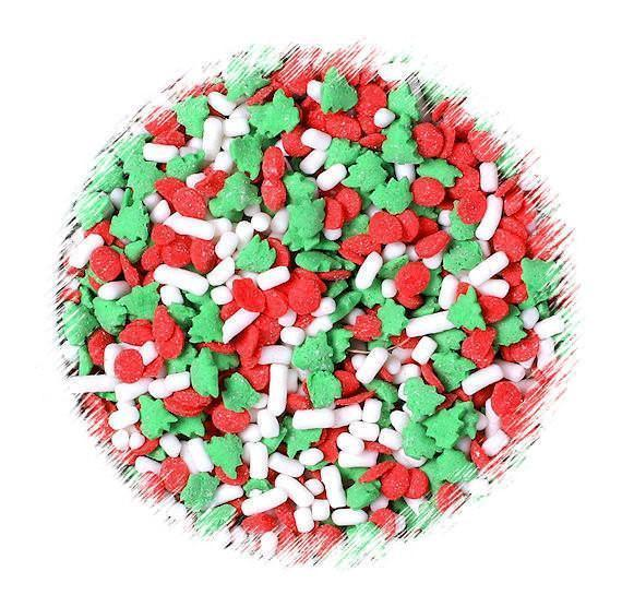 Christmas Tree Quin Sprinkles | www.bakerspartyshop.com