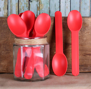 Reusable Ice Cream Spoons: Red | www.bakerspartyshop.com