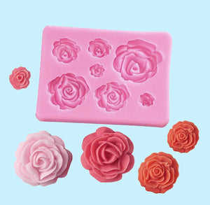 Rose Fondant Mold: Assorted | www.bakerspartyshop.com