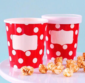 Red Polka Dot Ice Cream Container | www.bakerspartyshop.com