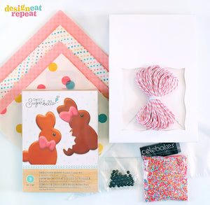DIY Bunny Cookie + Packaging Kit: Curated by DesignEatRepeat.com | www.bakerspartyshop.com