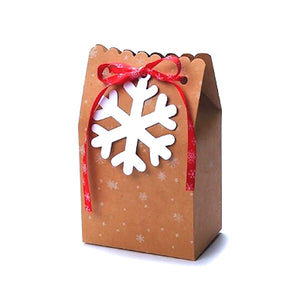 Kraft Christmas Treat Boxes + Tags: Snowflake