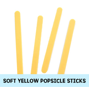 Soft Yellow Popsicle Sticks: Acrylic Cakesicle Sticks | www.bakerspartyshop.com
