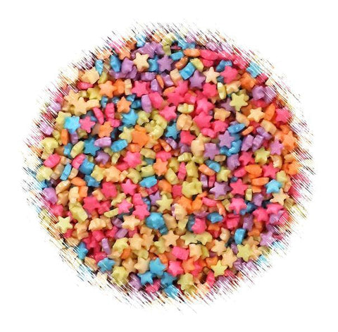 Tiny Unicorn Rainbow Star Sprinkles | www.bakerspartyshop.com