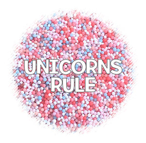 Unicorns Rule Nonpareils | www.bakerspartyshop.com