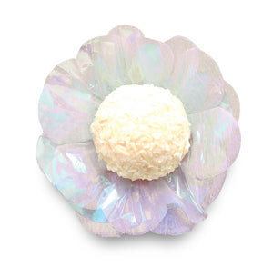 Violet Flower Candy Cups: Pearly White | www.bakerspartyshop.com