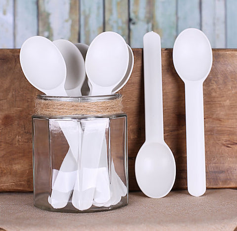 Reusable Ice Cream Spoons: White | www.bakerspartyshop.com