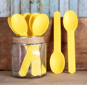 Reusable Ice Cream Spoons: Yellow | www.bakerspartyshop.com