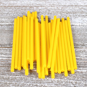 Yellow Lollipop Sticks: 4.5"