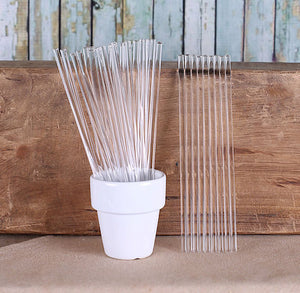 "6"" Clear Cake Pop Sticks 