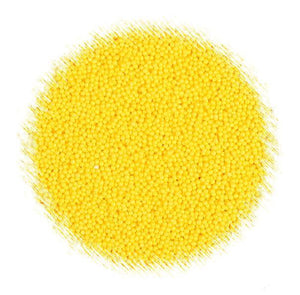 All Natural Sprinkles: Yellow Nonpariels | www.bakerspartyshop.com