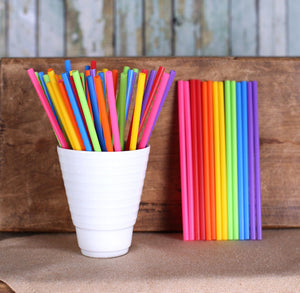 "Rainbow Lollipop Sticks (4 1/2"") 