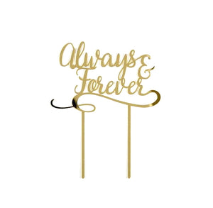 Always and Forever Cake Topper | www.bakerspartyshop.com