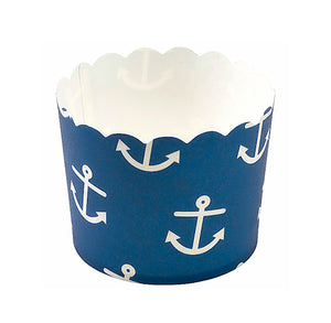 Blue Baking Cups with Anchors | www.bakerspartyshop.com
