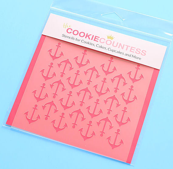 Anchor Cookie Stencil Cookie Countess Stencils The