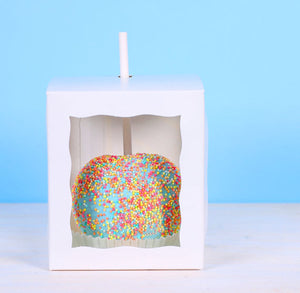 White Candy Apple Box Kit | www.bakerspartyshop.com