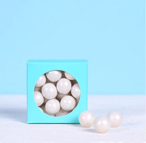 Mini Favor Boxes with Windows: Aqua | www.bakerspartyshop.com