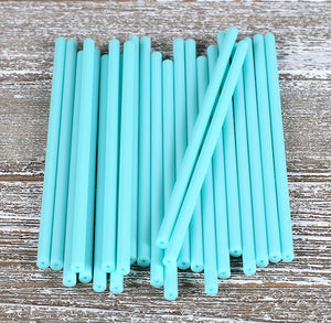 Light Aqua Lollipop Sticks: 4.5"