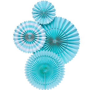 Aqua Party Fans | www.bakerspartyshop.com