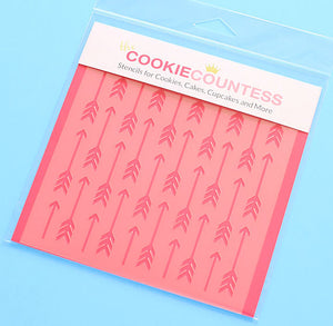 Arrow Cookie Stencil | www.bakerspartyshop.com