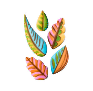 Tropical Leaves Sugar Toppers | www.bakerspartyshop.com