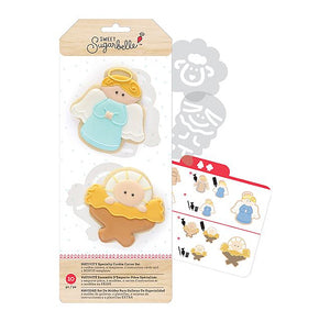 Sweet Sugarbelle Christmas Cookie Cutters: Nativity | www.bakerspartyshop.com