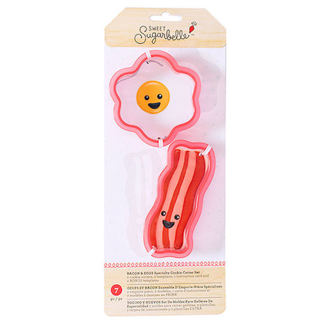 Sweet Sugarbelle Bacon and Egg Cookie Cutters | www.bakerspartyshop.com