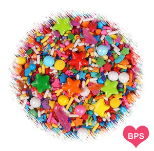 Sprinklefetti Birthday Rainbow Sprinkle Mix | www.bakerspartyshop.com