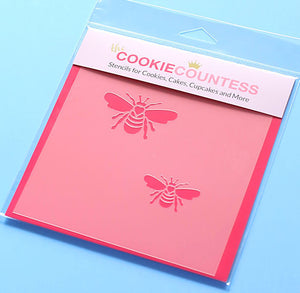Bumble Bee Cookie Stencil | www.bakerspartyshop.com
