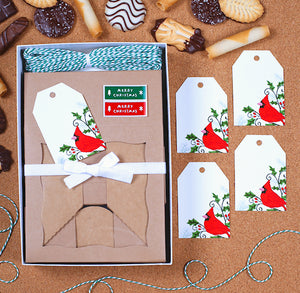 Christmas Cookie Box Kit: Cardinal | www.bakerspartyshop.com