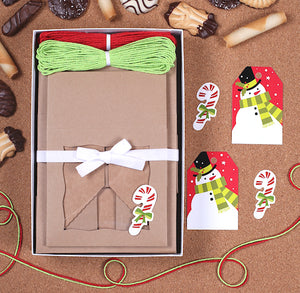 Christmas Cookie Box Kit: Snowman | www.bakerspartyshop.com