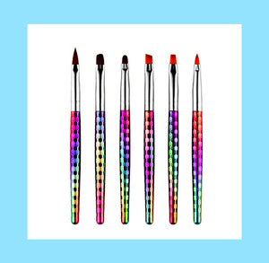 Rainbow Paint Brush Set: Short | www.bakerspartyshop.com