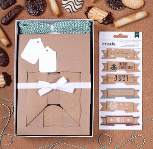 Christmas Cookie Box Kit: Holiday Cheer | www.bakerspartyshop.com