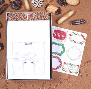 Christmas Cookie Box Kit + Labels | www.bakerspartyshop.com