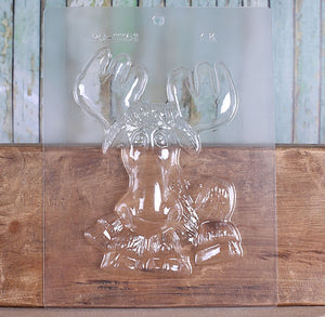 "Jumbo 7"" Moose Chocolate Mold 