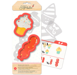 Sweet Sugarbelle Birthday Cookie Cutters | www.bakerspartyshop.com