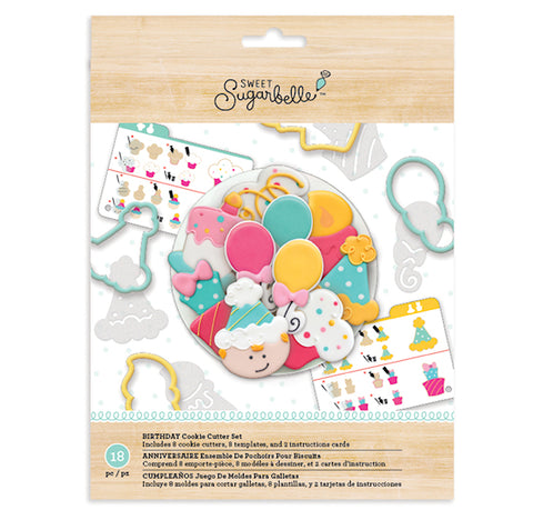Sweet Sugarbelle Birthday Cookie Cutters Set | www.bakerspartyshop.com