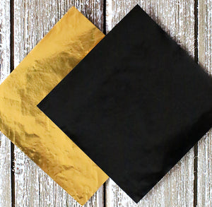 Black and Gold Foil Candy Wrappers | www.bakerspartyshop.com