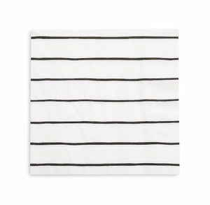 Striped Black Napkins: Large | www.bakerspartyshop.com