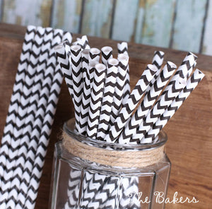 Black Cake Pop Sticks: Chevron | www.bakerspartyshop.com