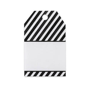 Black Stripe Gift Tags | www.bakerspartyshop.com