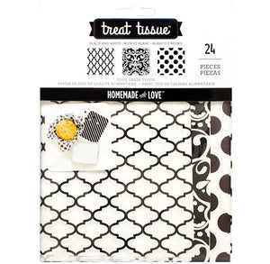 Black and White Treat Tissue Paper | www.bakerspartyshop.com