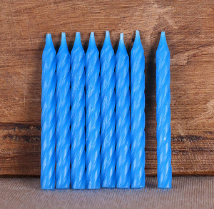 Spiral Birthday Candles: Blue | www.bakerspartyshop.com