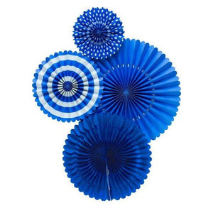 Royal Blue Party Fans | www.bakerspartyshop.com