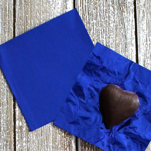 Royal Blue Foil Candy Wrappers | www.bakerspartyshop.com