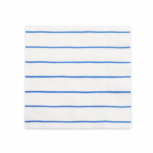 Striped Blue Napkins: Large | www.bakerspartyshop.com